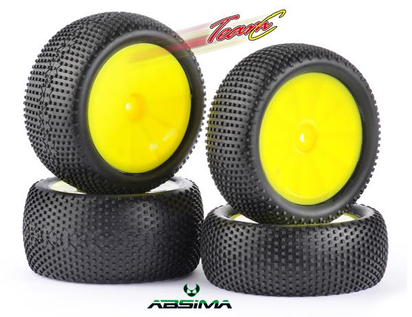 Absima/TeamC Square Pin Reifen Set TG420Y