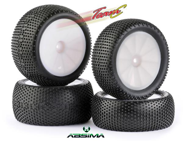 Absima/TeamC Square Pin Reifen Set TG420W