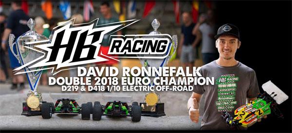 Absima HB Racing D. Ronnefalk ist Doppel Europameister