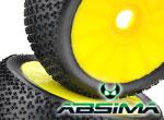Absima WHEEL - DEAL LP-B Disc/Dirt gelb (2)