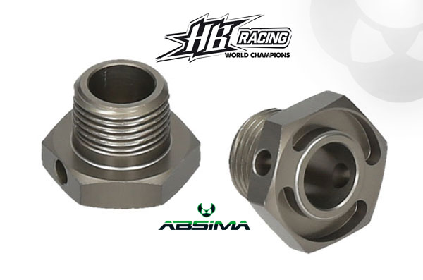 Absima HB Racing HB Racing schmale Rad-Sechskantnaben
