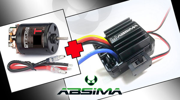 Absima Brushed Regler & Motor Combos