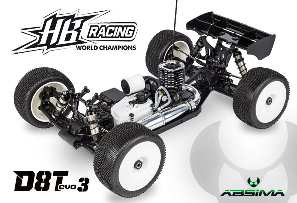 Absima HB Racing HB D8T Evo3 Competition Nitro Truggy