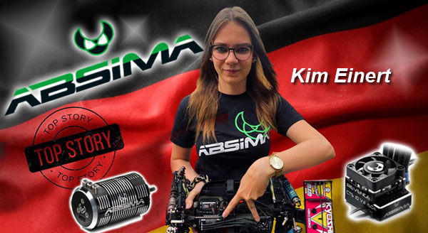Absima Kim Einert fährt Absima-Elektronik
