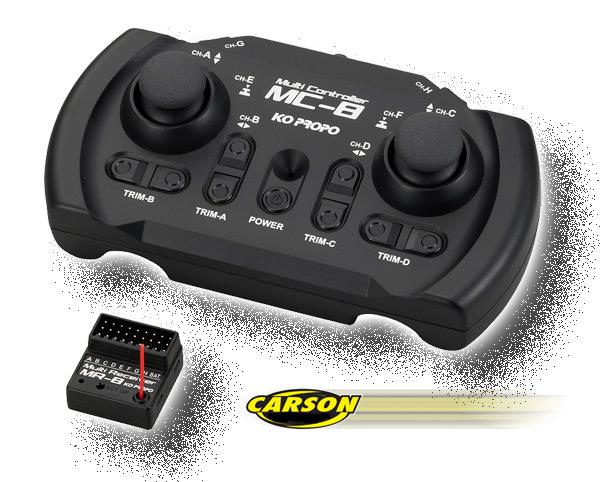 Carson Model Sport KO 8 Kanal MC-8 MX-F TR Set 2,4GHz