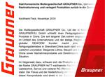 Graupner Graupner Pressemitteilung