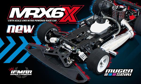 Mugen Seiki Europe MRX6X 1/8th nitro on-road kit