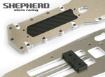 Shepherd Micro Racing V10 ChassisPlatte & Carboneinsatz