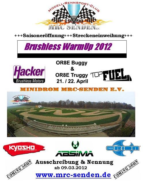 Veranstaltung Brushless Warm Up 2012