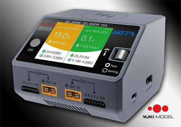 YUKI MODEL Hota D6 (Pro) Dual Smart Charger